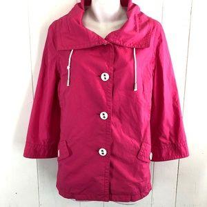 Jones New York Sport Pink Spring Jacket Coat~sz M